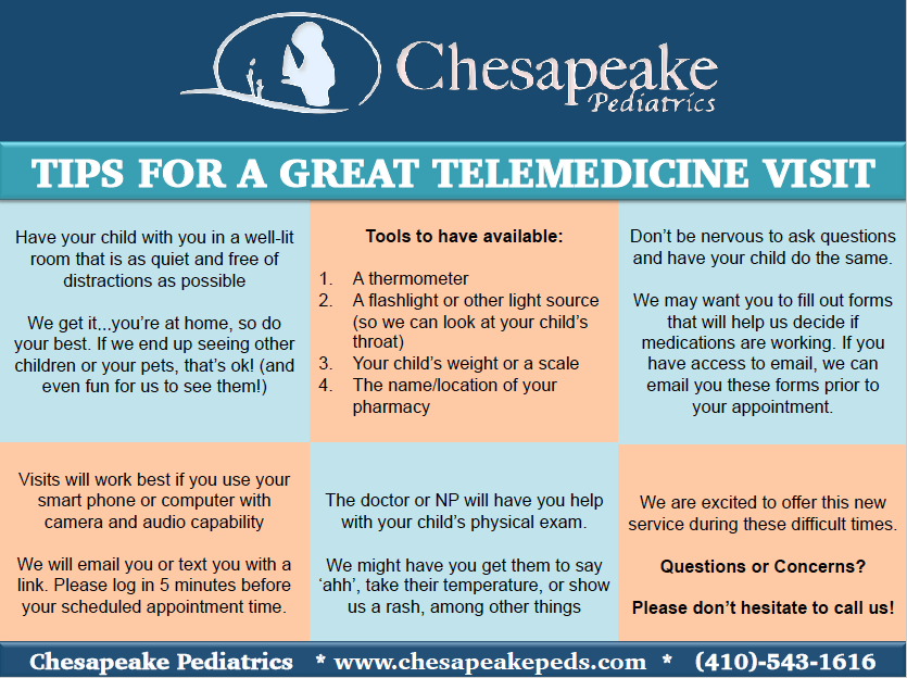 Chesapeake Pediatrics Telehealth